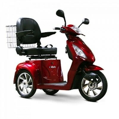 eWheels 3 Wheel Power Scooter, EW 36, Electric, Fast, Mobility Scooter, In Red