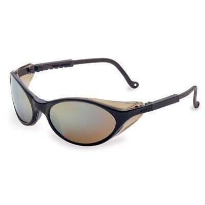 Uvex Bandit Safety Glasses With Gold Mirror Black Frame