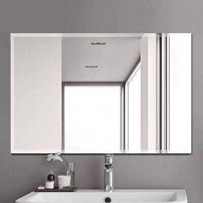 Home Bathroom Bath Mirror Wall Mount Vanity Mirrors Frameless Decorative Mirror Distressed Bathroom Vanities