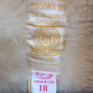 Vintage Wool Coat, Hudson Bay - New Condition (XL) London Ontario image 3