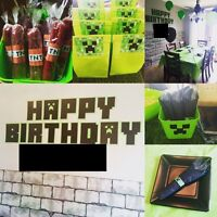 Minecraft Party Supplies and Goody bags