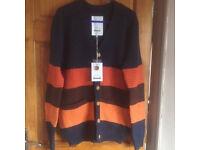 Quality handmade wool knit cardigan brandnew size M&L quick sale at £35 each