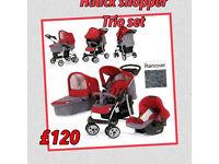 Brand new hauck shopper trio set in Smoke tango, travel system, pram pushchair car seat r/c