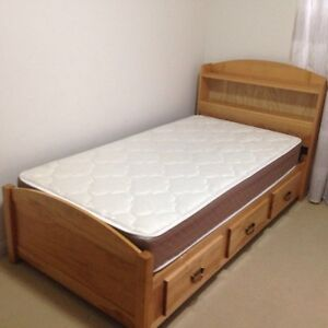 Single bed with mint condition mattress