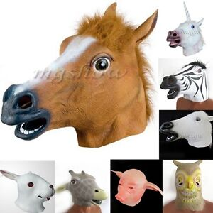 Creepy-Horse-Head-Mask-Animal-Costume-Prop-Gangnam-Style-Toy-Party-Halloween-New