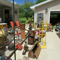 Antiques and collectibles garage sale