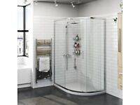 Orchard 6mm one door offset quadrant shower enclosure 900 x 760cm Left or right hand fitting