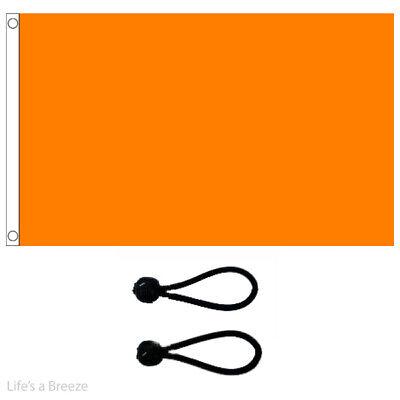 Plain Orange Flag 5 x 3 Ft Flag Poles Or Windsocks Poles Free Ball Ties.