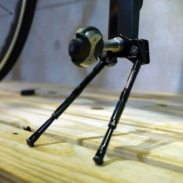 Gearoop Bicycle Crank Adjustable Kick Stand Leg 120mm-140mm Silver/Red/Black