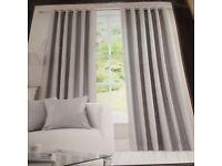 Dunhelm grey blackout curtains unused