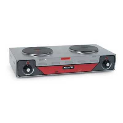 Nemco Electric Countertop Double Horizontal Burner Hot Plate NSF Model -
