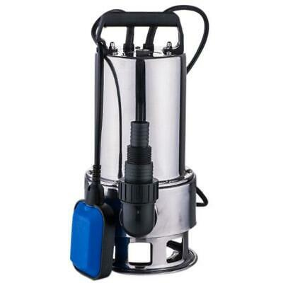 1.5hp Dirty Water Pump Stainless Steel Water Submersible Pump With Handle Silver