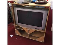 Sony CRT TV and stand