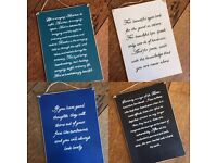 A4 personalised quote boards