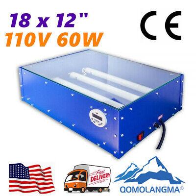 110v 60w 18x12in Uv Exposure Unit Silk Screen Printing Plate Making Equipment
