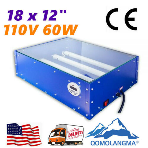 110V 60W 18x12in UV Exposure Unit Silk Screen Printing Plate Making Equipment