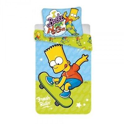 Bart Simpson Bettwäscheset. Bettbezug 140 x 200 cm und 1 Kissenbezug 70 x 90 cm