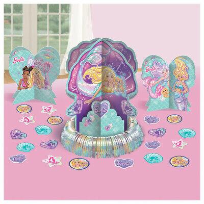 Barbie Birthday Party Decorations (Barbie Mermaid Table Decoration Kit Girls Birthday Party Supplies ~)