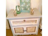Beautiful Refurbished Shabby Chic Storage Cabinet solid Oak wood