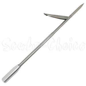Spearfishing-12-Stainless-Steel-Pole-Spear-Tip-Single-Barb-Head