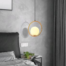 Hardwired Gold Pendant Light Fixture