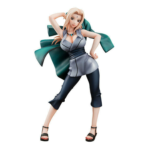 Preowned Authentic Megahouse Naruto Gals Tsunade PVC Figure