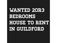 Needed 2-3bedroom house to rent in Guildford