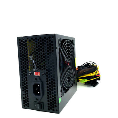 680 Watt 12CM Fan w/ Guard Grill ATX Power Supply Unit 20/24 Pin SATA Molex Pcie
