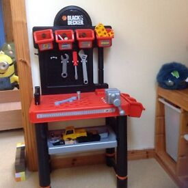 Work bench, toy Black and Decker tool bench.