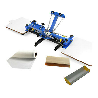 4 Color 2 Station Silk Screen Printing Press For Diy T-shirt Printing