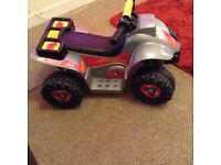 Toddler electric quad with charger
