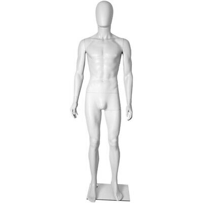 Mn-251 White Plastic Egghead Male Full Size Mannequin Removable Head Ehm