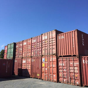 40' STORAGE CONTAINERS. SHIPPING CONTAINERS