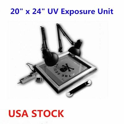Us 20 X 24 Silk Screening Uv Exposure Unit Screen Printing Plate Making Diy