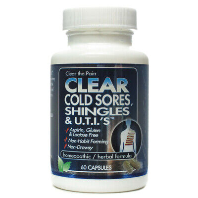 CLEAR PRODUCTS - Clear Shingles Herpes  UTIs - 60 Capsules