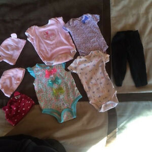 Baby girl clothes now 140 plus items and 23 dippers size 2