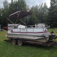 ** lower price gotta go **18' lavigne pontoon with 2002 40hp