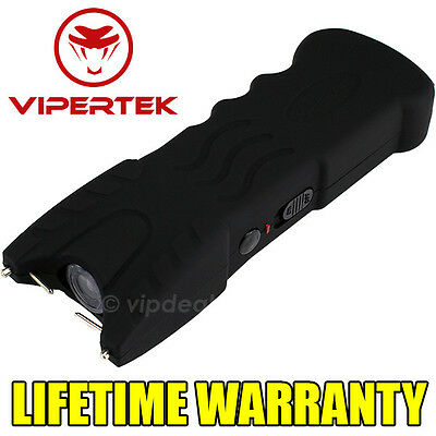 VIPERTEK BLACK VTS-979 999 MV Rechargeable LED Police Stun Gun + Taser Case