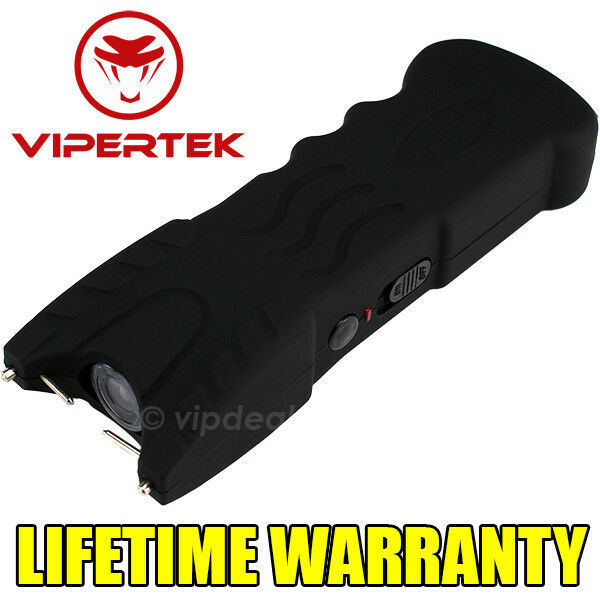 VIPERTEK BLACK VTS-979 160 BV Rechargeable LED Flashlight Stun Gun