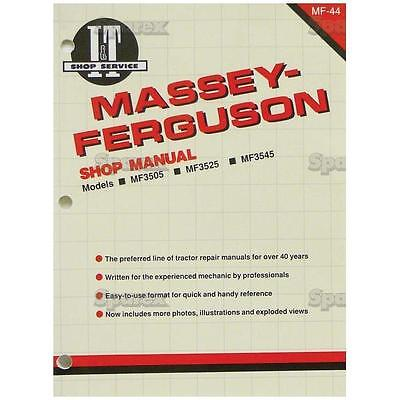 Massey-ferguson Mf 3505 3525 3545 Tractor Shop Service Repair Manual It Mf44 New