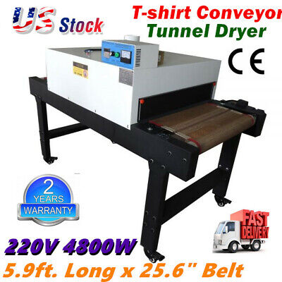 220v Screen Printing T-shirt Conveyor Tunnel Dryer 5.9ft. Long X 25.6 Belt