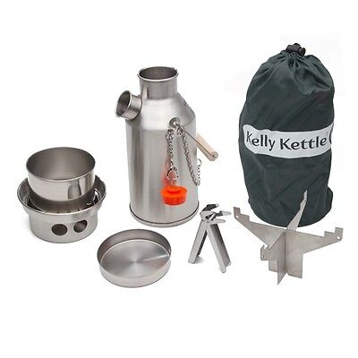 Kelly Kettle 20 oz. Small Stainless Steel Trekker Basic Kit