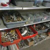 Large Variety of Fasteners, Nuts, Bolts, Scews, Nails