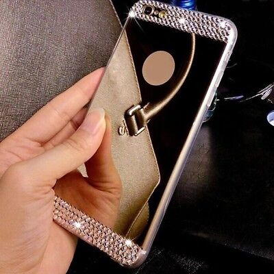 New Luxury Bling TPU Soft Mirror Gel Back Accessories Case Cover For Cell Phones