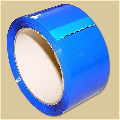 3 Klebeband Rollen 50 mm x 66 m FARBIG PP Leise abrollbar blau Packband