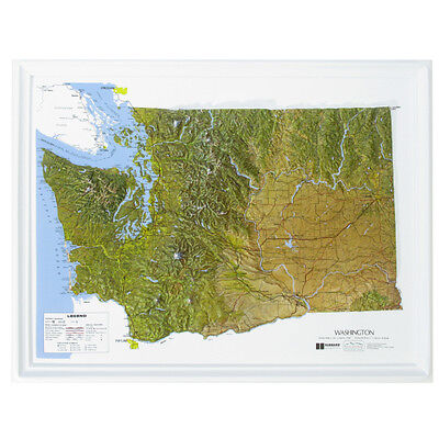 Hubbard Washington Raised Relief Map NCR Style- unframed