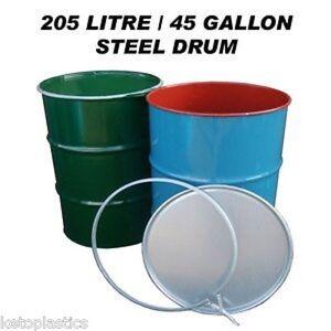 205L 45 GALLON SHIPPING DRUM SHIPPING BARREL, OIL DRUM CONTAINER BIN, STEEL DRUM