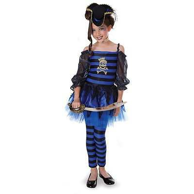 NWT PRINCESS PARADISE PUNK PIRATE COSTUME WITH HAT 12 HALLOWEEN (Blue Pirate Girl Costume)