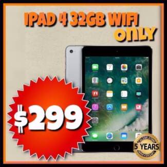 Refurbished iPad 4 32GB Wifi ONLY UNLOCKED Black & White @PB