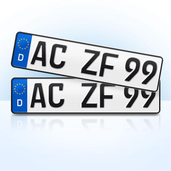 2 Stück EU Kfz-Kennzeichen | 460 x 110 mm | Nummernschilder | Autokennzeichen